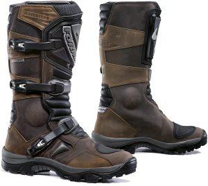 chaussures de moto marron